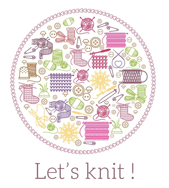 Lets knit. Knitting and needlework. - Graphics