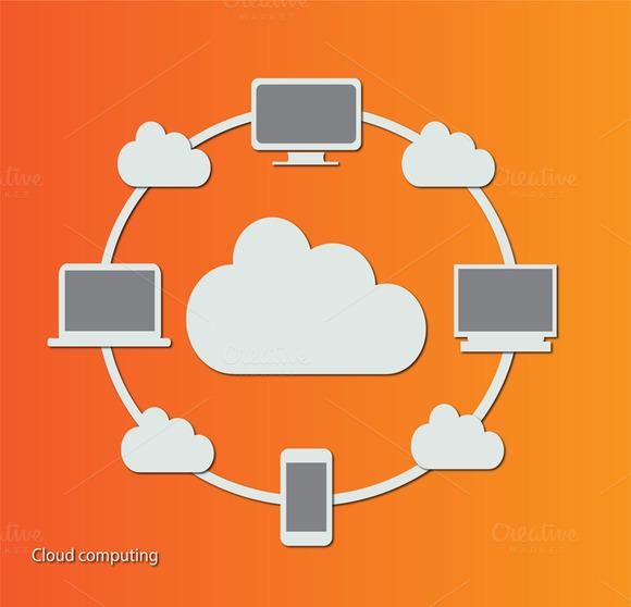 Cloud Computing Technology Orange
