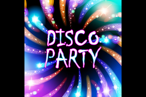 colorful lights salute. disco party - Graphics