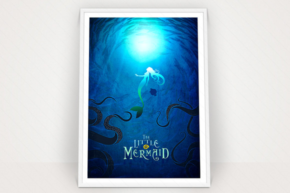 Little Mermaid Poster Graphic