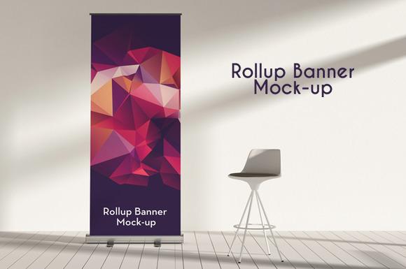 Rollup Banner Mock-ups vol.05 - Product Mockups