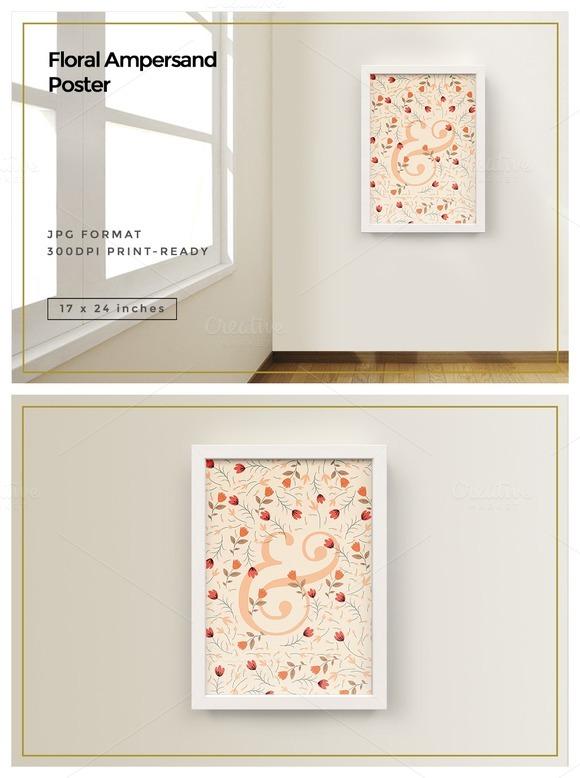 Floral Ampersand Poster