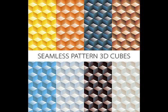 Isometric Game Brick Cubes Set