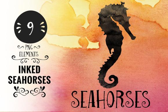 Inked Sea Horses