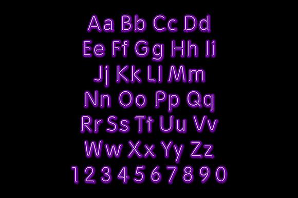 Neon Glow Alphabet Vector Design