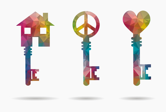 Set 3 Keys With Symbols