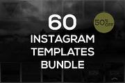 60 Instagram Templates Bund-Graphicriver中文最全的素材分享平台