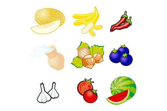 Fruits and vegetables. Organic food - Graphics