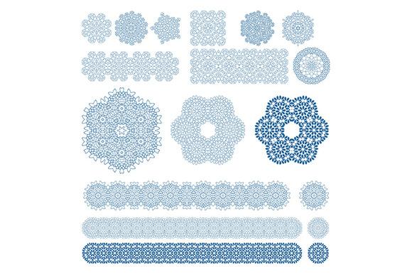Set Of Ten Arabic Patterns Mosaic