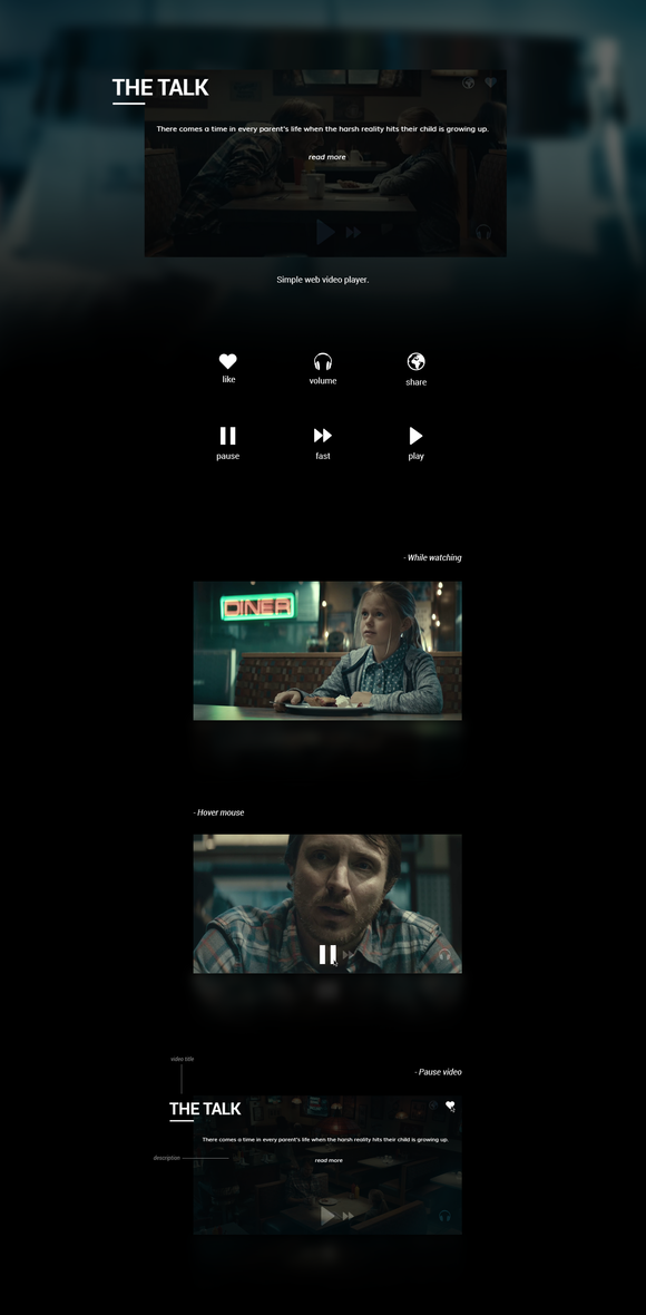 Web Video Player Concept
