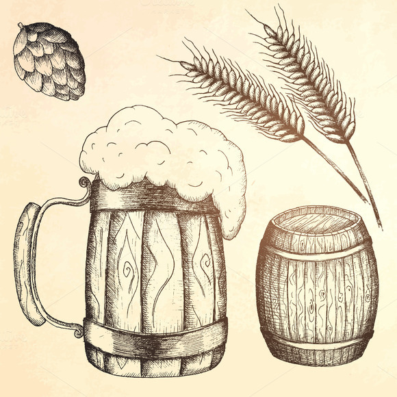 Set Of Beer Objects