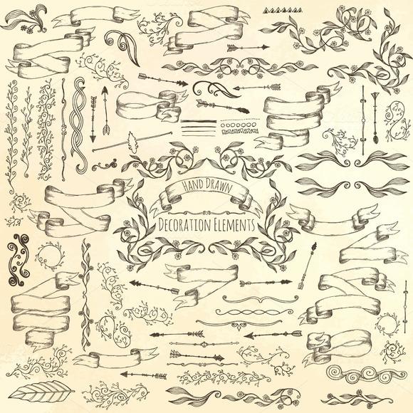 Hand Drawn Decoration Elements