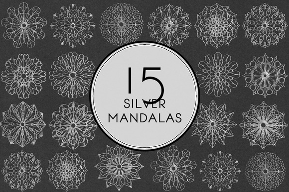 Silver Mandalas