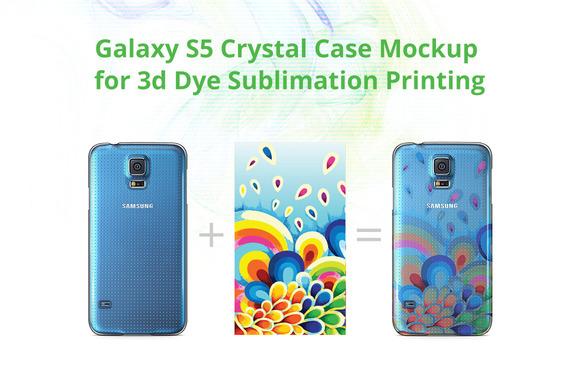 Galaxy S5 3D Crystal Case Mock-up