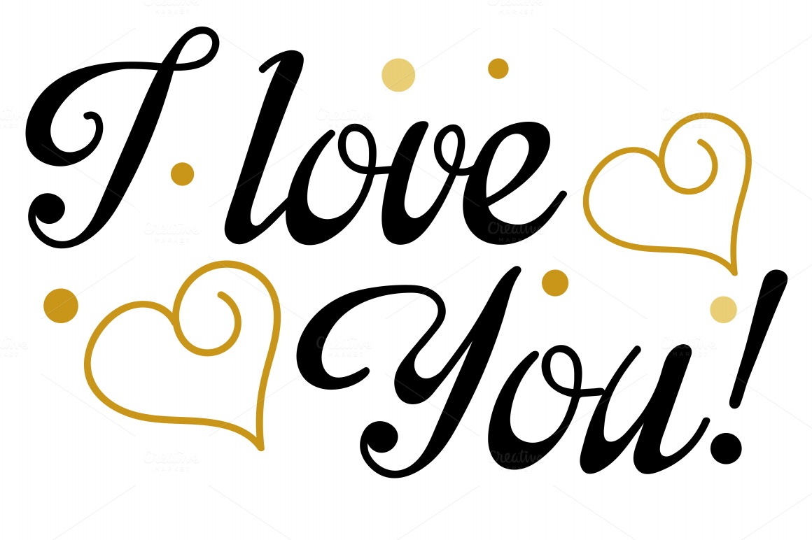 Download I Love You, Lettering, Design Vector ~ Script Fonts on ...