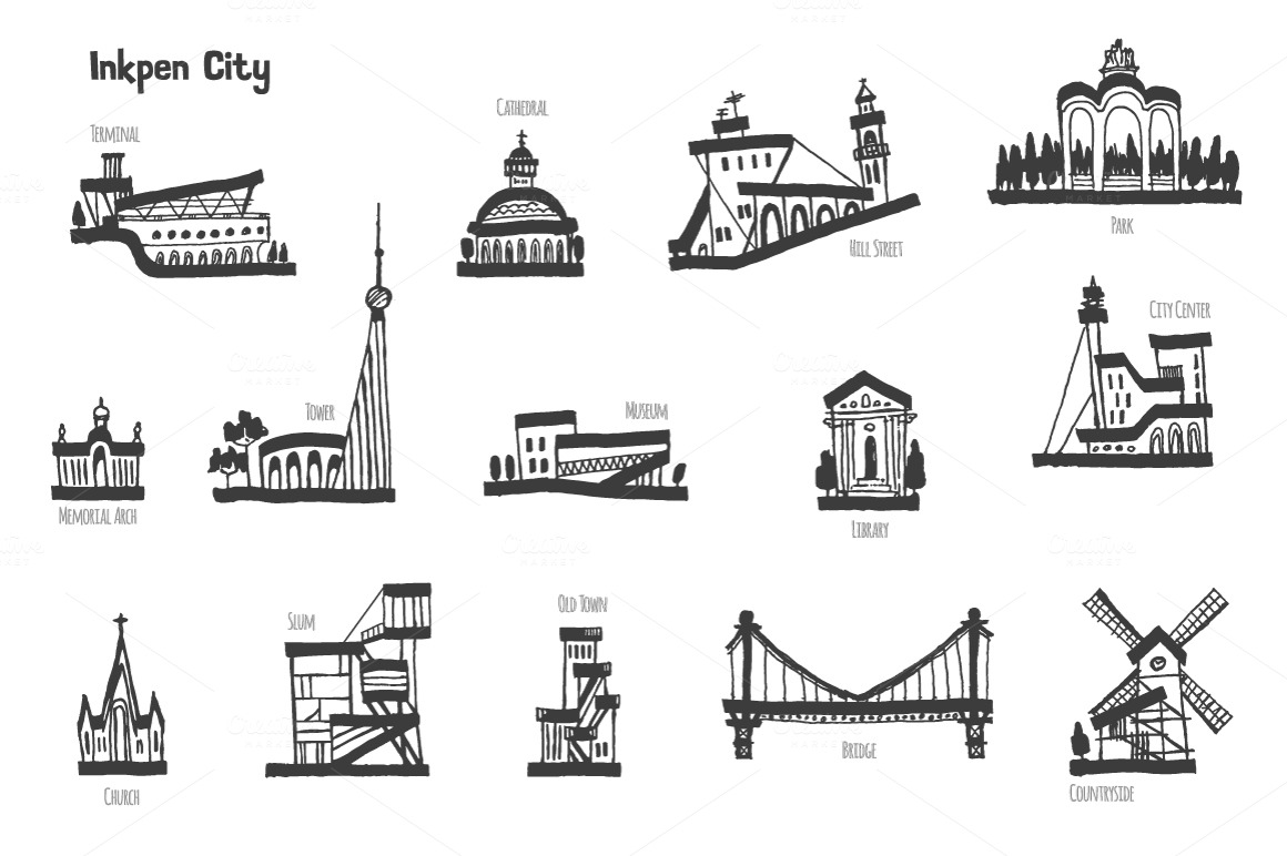 City Buildings ~ Illustrations on Creative Market