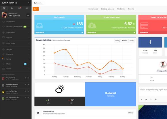 Supina - Bootstrap Admin Template - Bootstrap