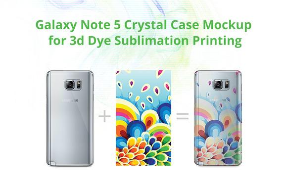 Galaxy Note 5 3D Crystal Case Mock-u