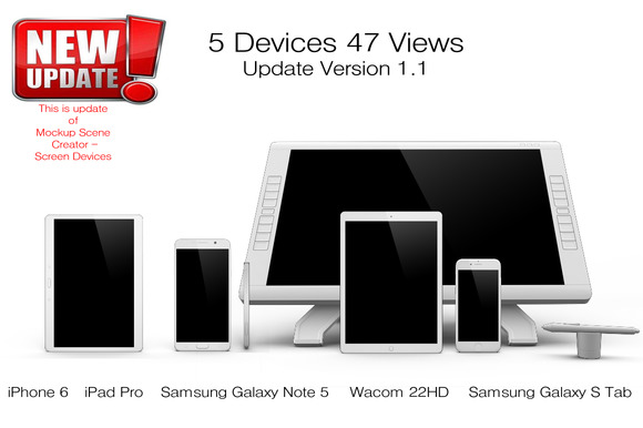 5 Devices 47 Views Mock Update V 1.1 - Product Mockups