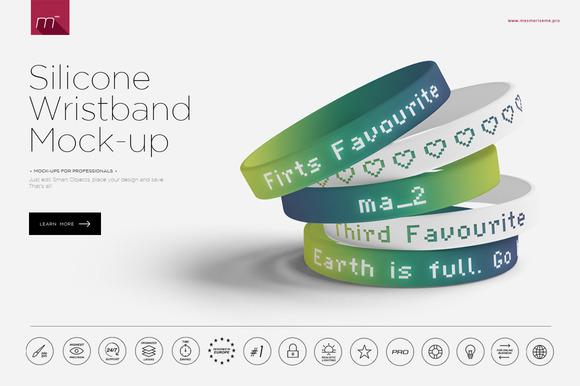 Silicone Wristband 2 Mock-up
