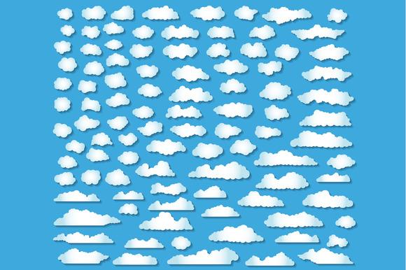 100 Clouds Set