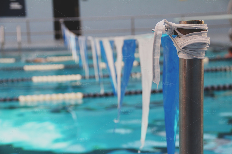 Swimming Pool Finish Line : Swimming pool finish line sports photos on creative market
