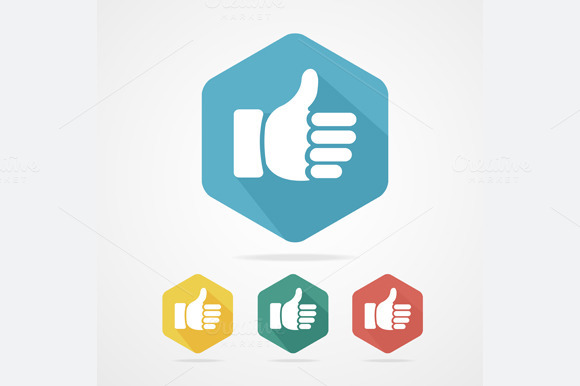 Cursor Thumb Up Icon Set