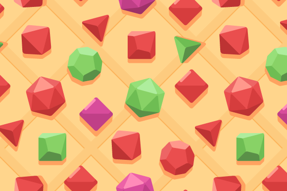 Seamless Dices Pattern
