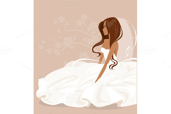 Collection brides. Vector - Illustrations