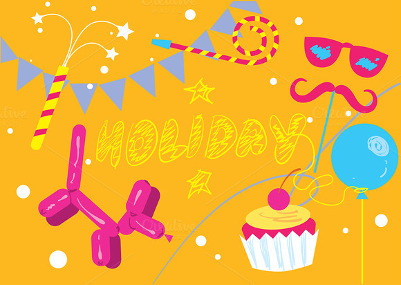 Abstract Holiday Vector Background