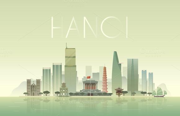 Hanoi Vector Illustration