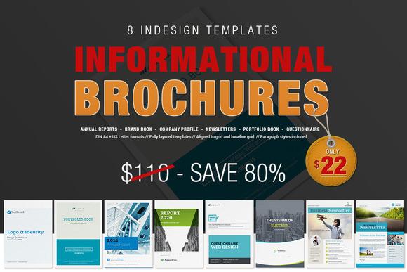 informational brochure templates - 8 informational brochures bundle brochure templates on