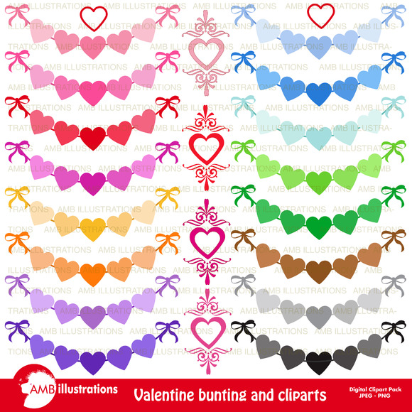 Valentines Banners Clipart AMB-1150
