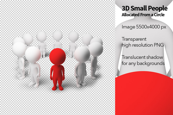 3D Small People Allocated From A C