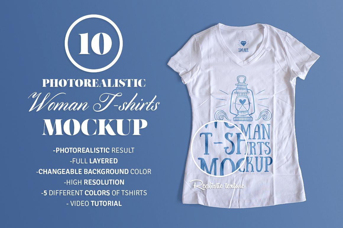 Woman t shirt mockup product mockups on creative market for Woman t shirt mockup