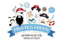 Themed Birthday PhotoProps- Pirates