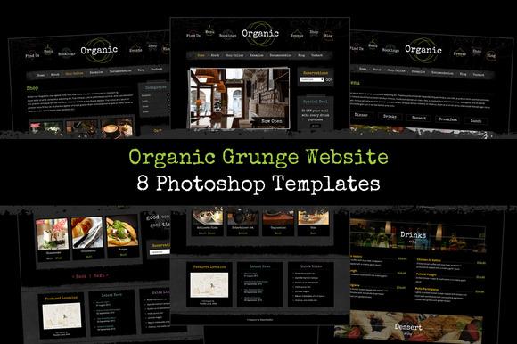 Organic Grunge Website Template PSD