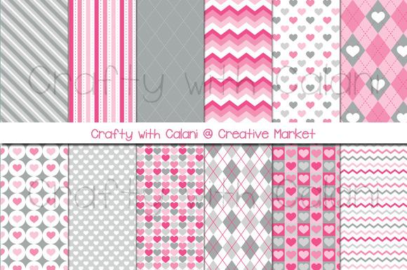 Pink Valentine Digital Paper