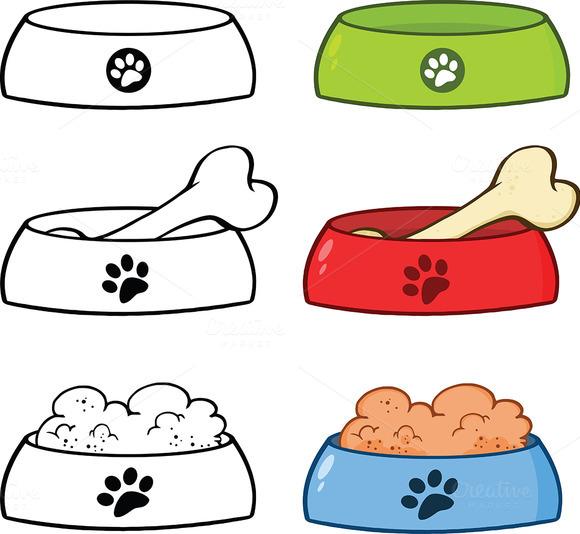 Dog Bowl Illustration Collection