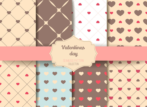 8 Valentine Seamless patterns V.2 - Patterns