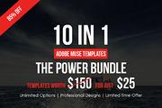 Adobe Muse Bundle - 10 Temp-Graphicriver中文最全的素材分享平台