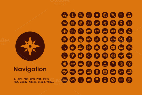 Navigation Simple Icons