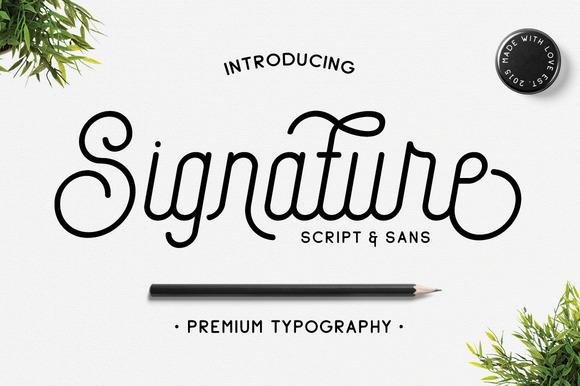 Signature Script & Sans