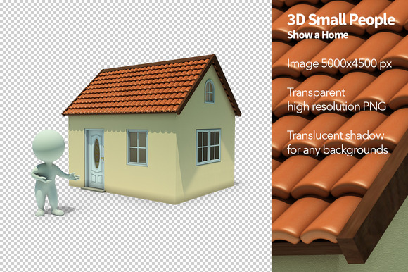 3D Small People Show A Home