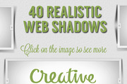 40 Realistic Web Shadows-Graphicriver中文最全的素材分享平台