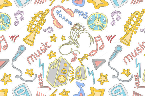 Doodle Pattern Music