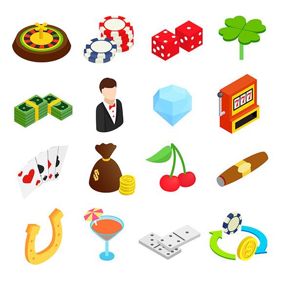 Poke Live Dcf Shapes: Casino Isometric 3D Icons » Logotire.com