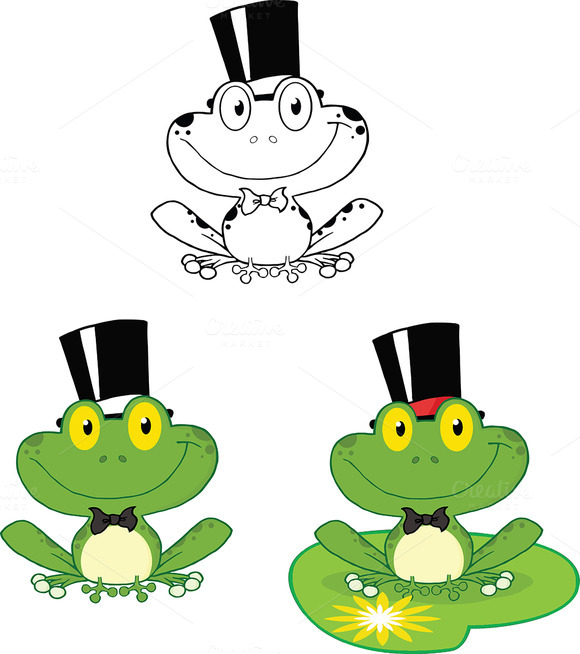 Smiling Groom Frog Collection