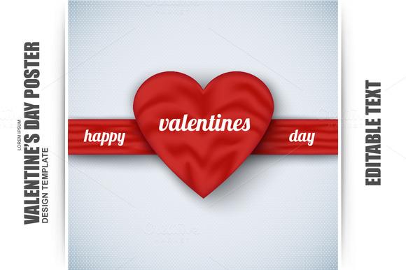 Valentine`s Day Poster Silk Heart