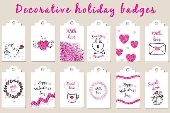 Decorative Holiday Badges